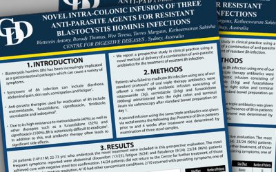 Novel intra-colonic infusion for resistant Blastocystis